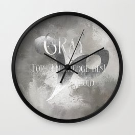 GRAY for knowledge best untold. Shadowhunter Children's Rhyme. Wall Clock