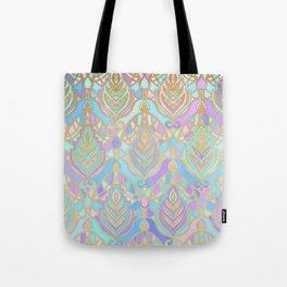 Jade & Blue Enamel Art Deco Pattern Tote Bag
