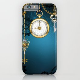 Steampunk Design with Clocks and Gears iPhone Case