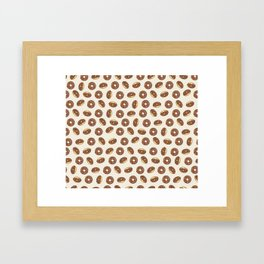 Chocolate Donuts on Cream Framed Art Print