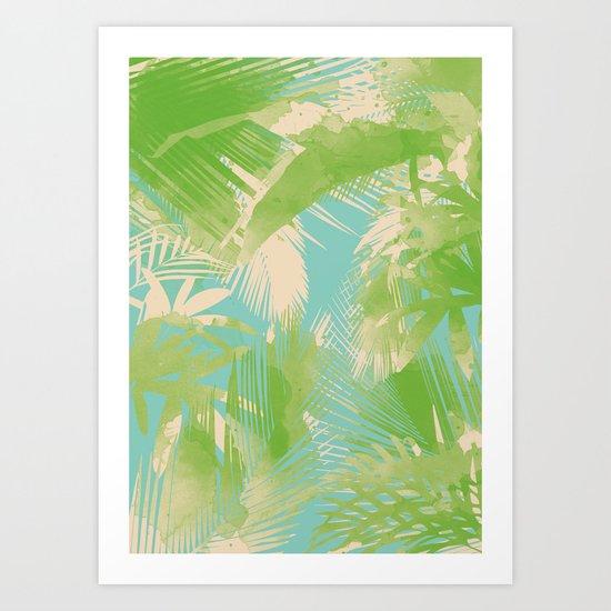 Tropical  turquoise Art Print