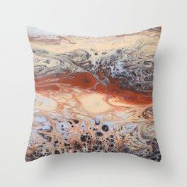 Lava Stream Throw Pillow