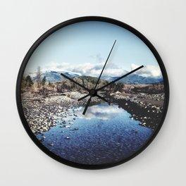 Nooksack River Bellingham Washington Wall Clock
