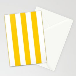 Philippine yellow -  solid color - white vertical lines pattern Stationery Cards
