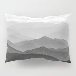Forest Fade - Black and White Landscape Nature Photography Pillow Sham