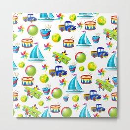 Kids Sports & Leisure - Rainbow Baby Toys - Nursery Enjoyment Metal Print