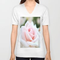 rose V-neck T-shirts featuring Rose by Whimsy Romance & Fun