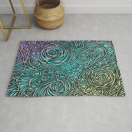 How the river flows - Zentangle Art Rug