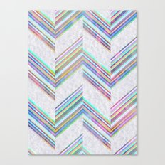 Lilli Chevron {light} Canvas Print