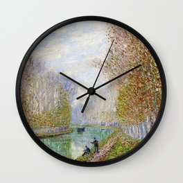 River Seine, Autumn, Paris, France by Francis Picabia Wall Clock