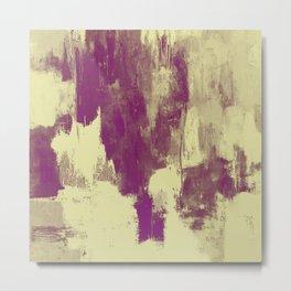 Textured Purple Metal Print