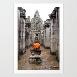 Buda in Angkor Art Print