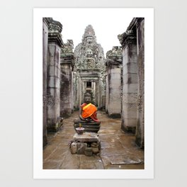 Buda in Angkor Art Print