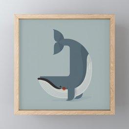 Blue Whale, Antartica Wildlife Framed Mini Art Print