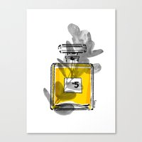 perfume Canvas Prints featuring Perfume by Magdalena Pankiewicz