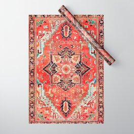 Heriz Azerbaijan Northwest Persian Rug Print Wrapping Paper