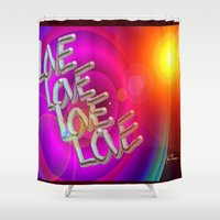 all you need is love Shower Curtains featuring All you need is love by JT Digital Art