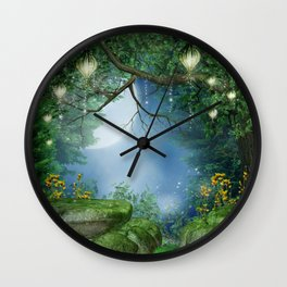 Enchanted Summer Night Wall Clock