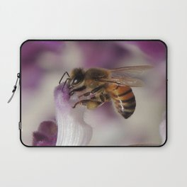 Worker Bee on Mexican Sage Laptop Sleeve