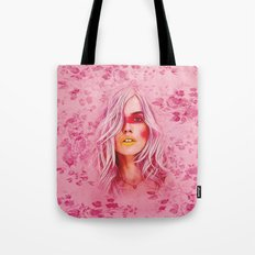 Girl with pink hair Tote Bag