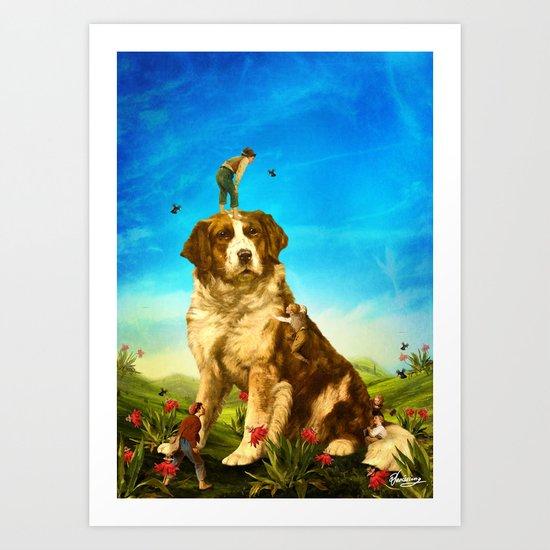 Our Giant Mascot Art Print