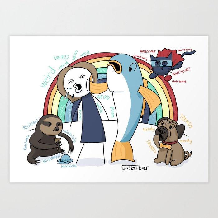 Fish Slap Art Print
