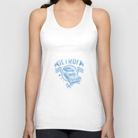 detroit Tank Tops featuring Detroit by Tshirt-Factory