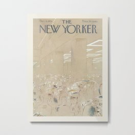 """Cover of """" The new Yorker"""" magazine. Dec. 8 1956. Metal Print"""