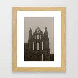 Whitby Abbey in the Fog Framed Art Print