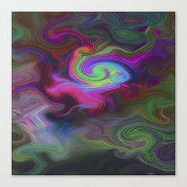 Turbulence - Midnight flower Canvas Print