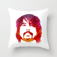 dave grohl Throw Pillows featuring D. Grohl by Fimbis