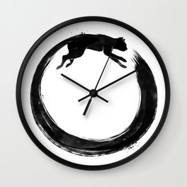 Sumie Enso Cat Wall Clock