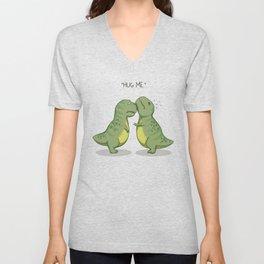 T-Rex Hugs Unisex V-Neck
