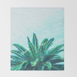 Palm Chill! Throw Blanket