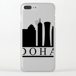 skyline doha Clear iPhone Case