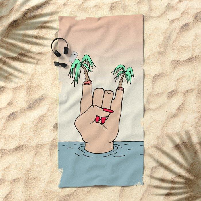 ROCK THE BEACH Beach Towel
