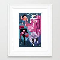 steven universe Framed Art Prints featuring Steven Universe by Michelle McCammon