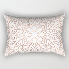 Mandala Rose Gold Pink Shimmer by Nature Magick Rectangular Pillow