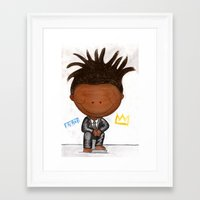 basquiat Framed Art Prints featuring BASQUIAT by LesliePinto