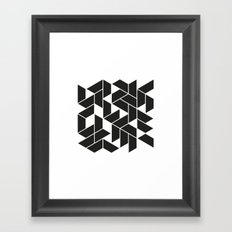 #539 City walks – Geometry Daily Framed Art Print