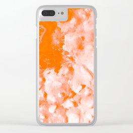 Quartz in Vermilion Clear iPhone Case