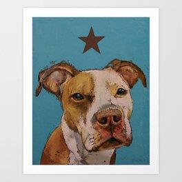 American Pit Bull Art Print