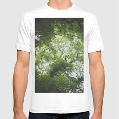Up in the Trees Above MEDIUM White Mens Fitted Tee