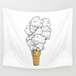 Volcano ice cream Wall Tapestry