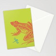 Frog vs. Dragonfly Stationery Cards
