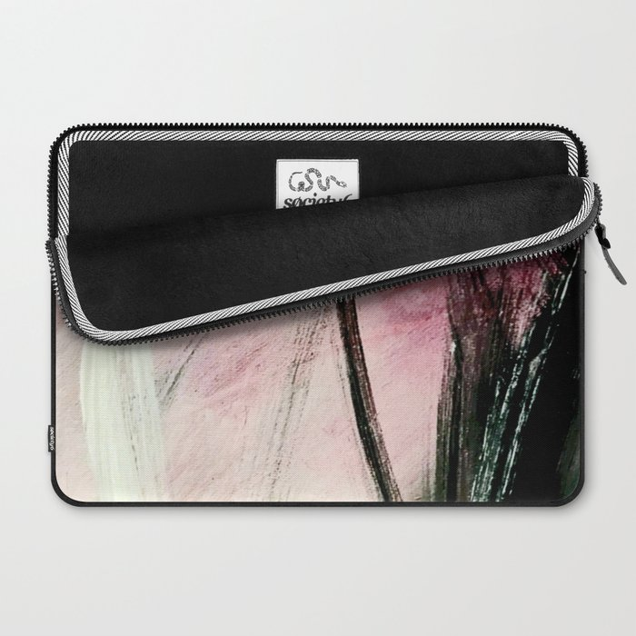 Train of thought: a vibrant abstract mixed media piece Laptop Sleeve