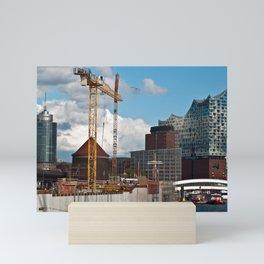 HAMBURG HARBOR SOUND Mini Art Print