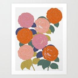 Flowers In Full Bloom Art Print