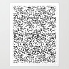 Oh English Bulldog Art Print