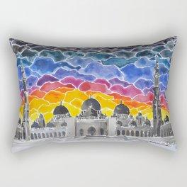 Sheikh Zayed Grand Mosque, Abu Dhabi, UAE Rectangular Pillow